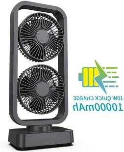 2 in 1 Portable Air Cooler Desk Fan with Superpower Battery