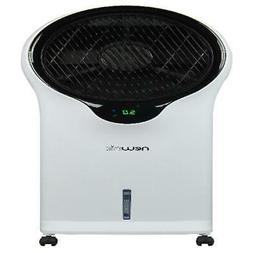 2-IN-1 White Portable Oscillating Evaporative Air Cooler & T
