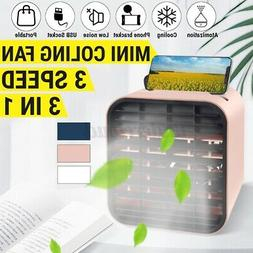 3 In 1 Portable Mini USB Air Conditioner Cooler Humidifier P