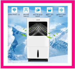 Evaporative Portable Air Cooler Fan Cooling Humidifier W/ Re