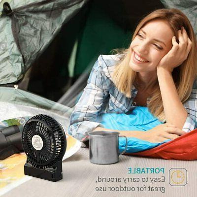 Portable Rechargeable LED Fan Air Operated