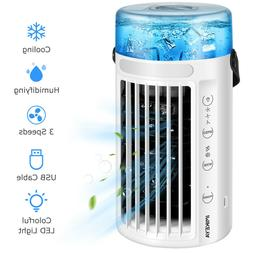 Portable Air Conditioner Cooler 8 LED Light Cooling Fan Humi
