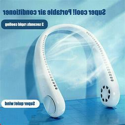 Neck Fan USB Portable Hanging Air Cooler Rechargeable Neckba