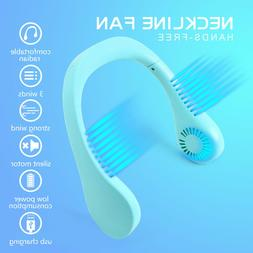 USB Portable Hanging Neck Fan 2 In 1 Air Cooler Mini Electri