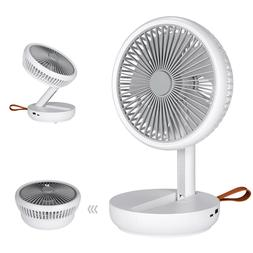 USB Rechargeable Foldable Portable Fan Air Cooler Cooling Mi